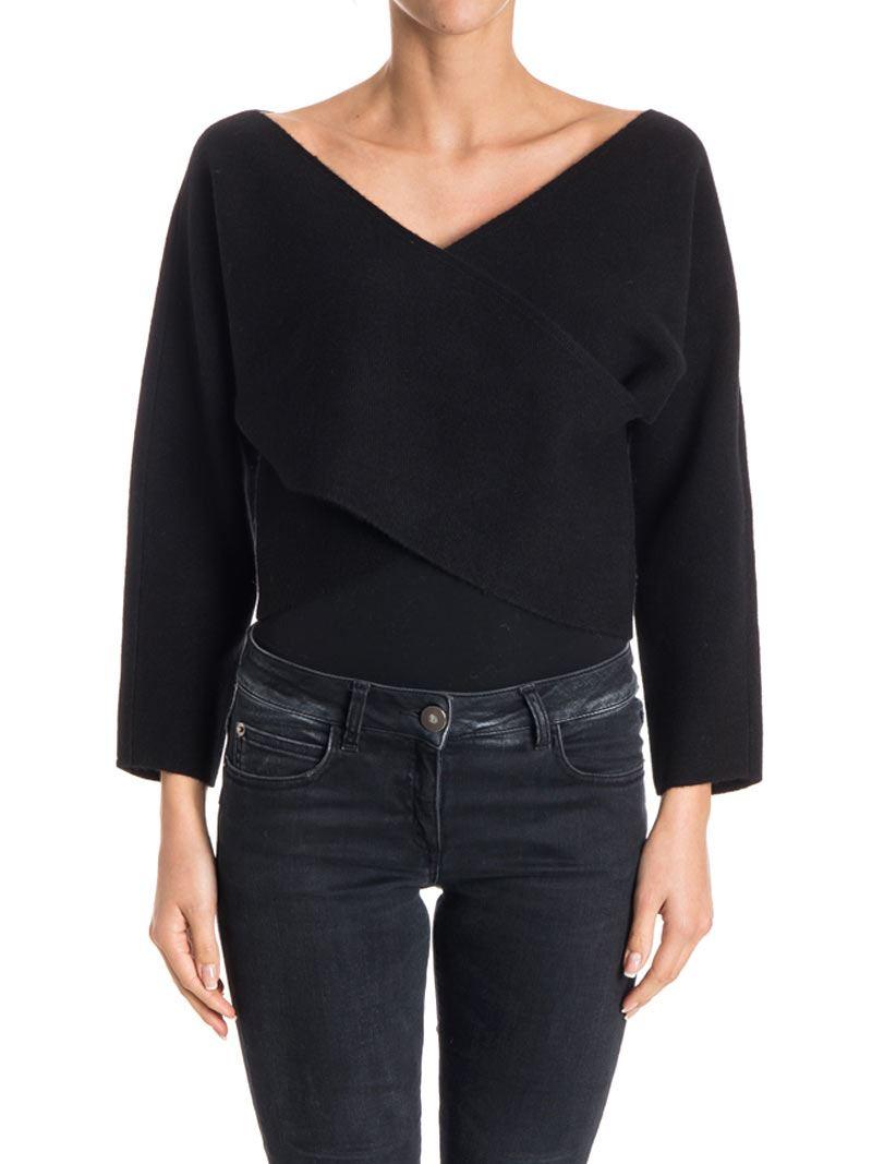 [관부가세포함][다이앤폰퍼스텐버그] Cashmere sweater (10780DVF BLACK)