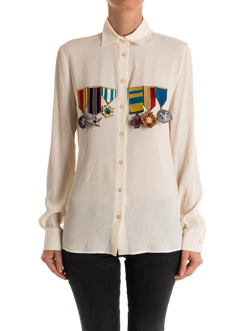 [관부가세포함][스텔라진] Silk blend shirt (J C 001 81 T 9262 A12)