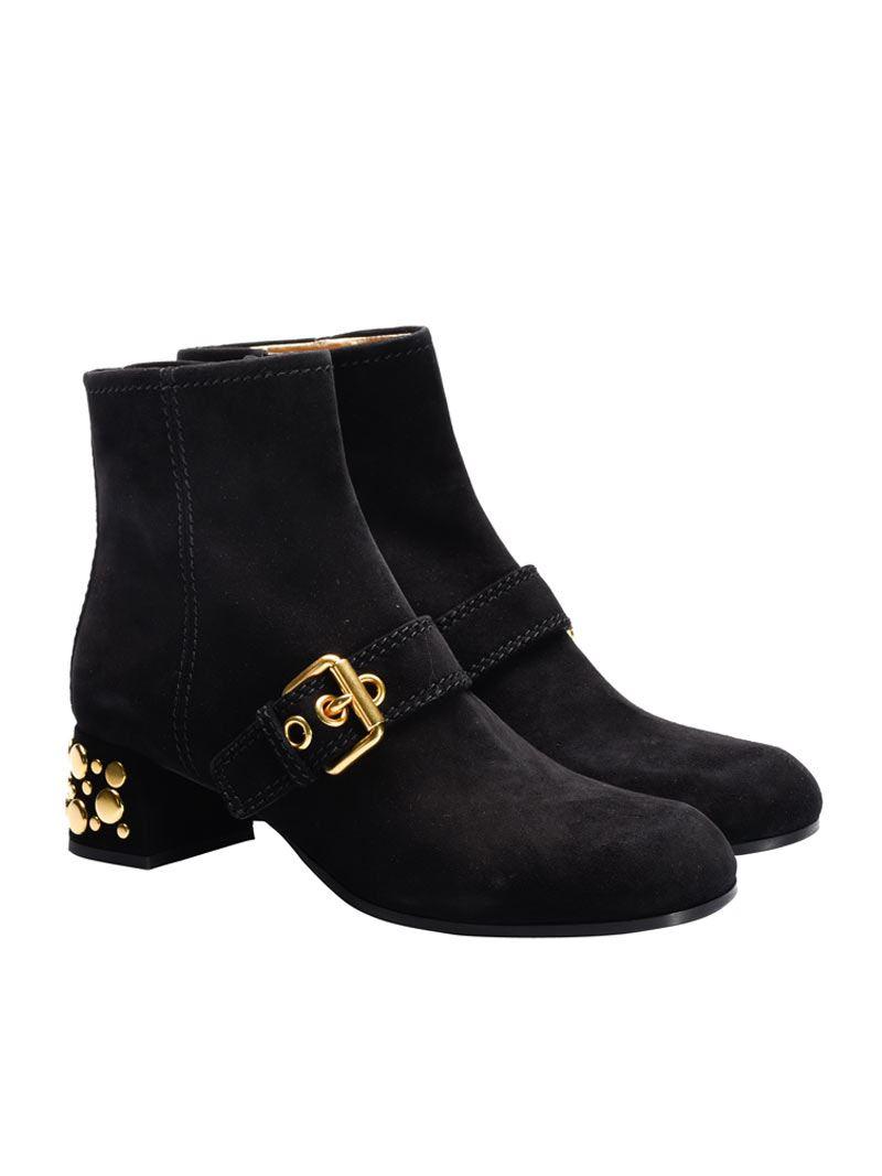 [관부가세포함][카슈] Suede ankle boots (KDT53N 008 F0002 NERO)