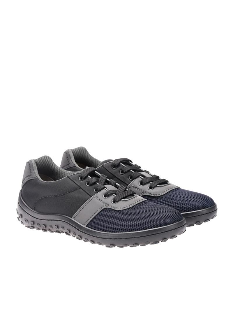 [관부가세포함][카슈] Fabric sneakers (KUE882 71L F0804 NERO+BLEU)