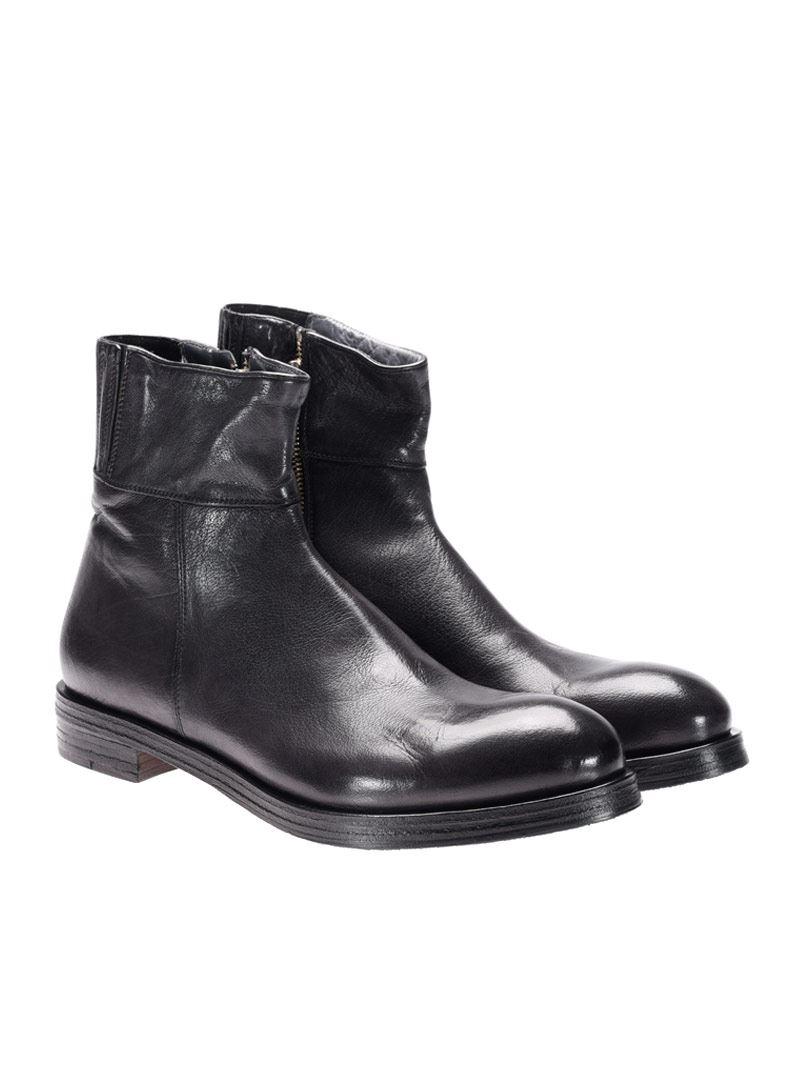 [관부가세포함][라파로] Leather ankle boots (I17024 ANTRACITE)