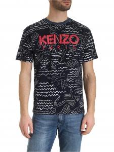 [겐조] SS20 남성 mermaids 반팔 티셔츠 XL (5TS043 4SC 77_C)_빠른배송